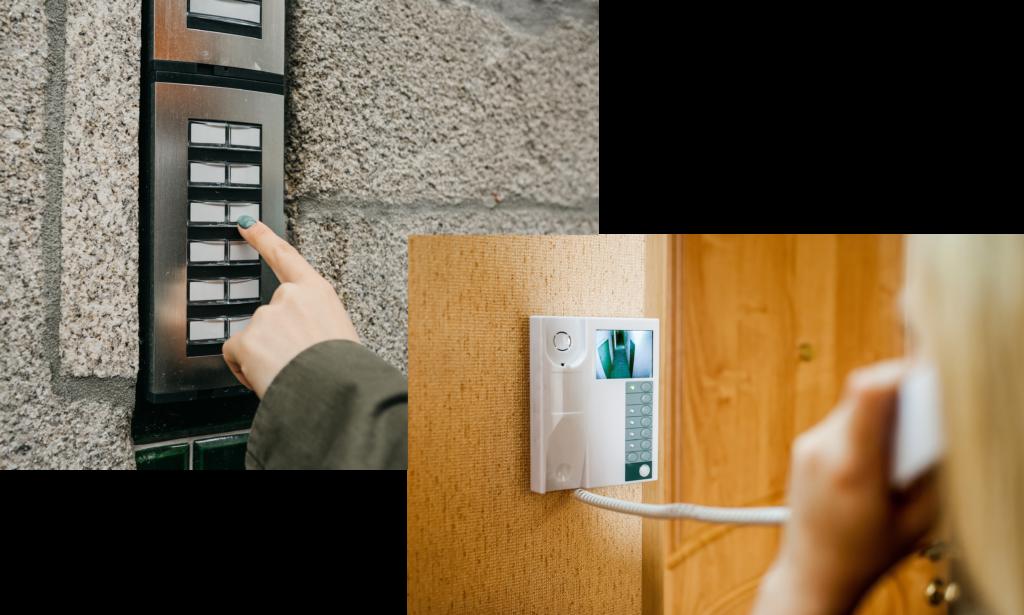 Domofony wideodomofony kobieta bezpieczeństwo kamera monitoring podgląd zdalne otwarcie domofon wideodomofon